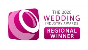 A series of logos showing a series of wedding photography awards won by M and G Wedding Photography