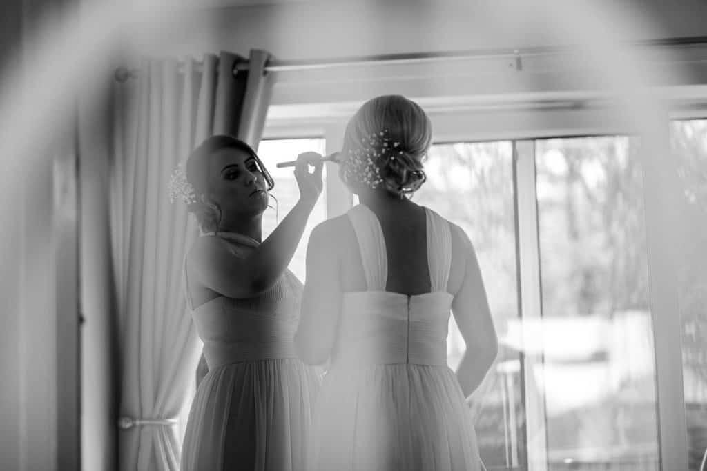 Bridal make up goes on