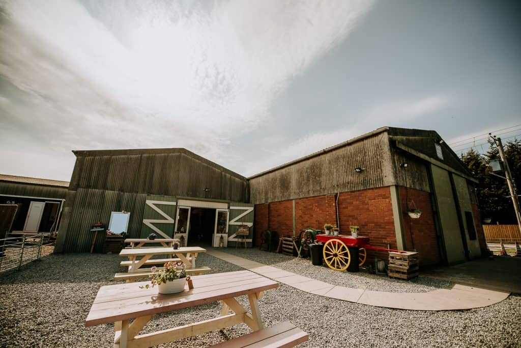 An image showing the yorkshire barn wedding venue Berts Barrow