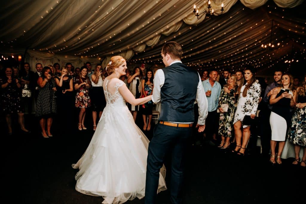 A first dance by M and G wedding photography