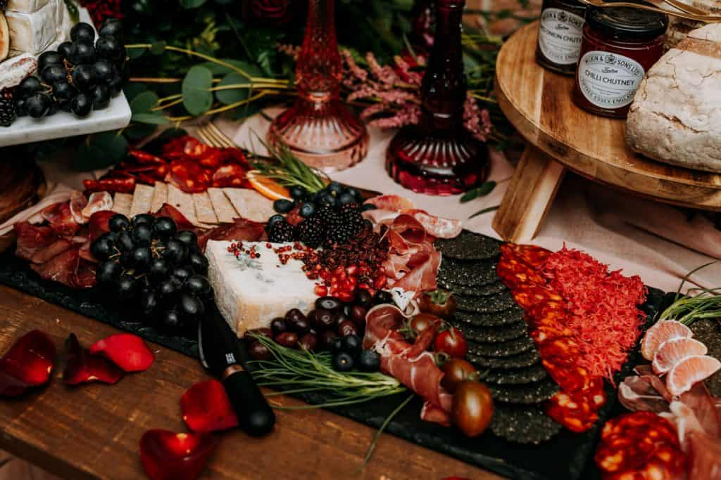 wedding buffet ideas at the Beverley Barn