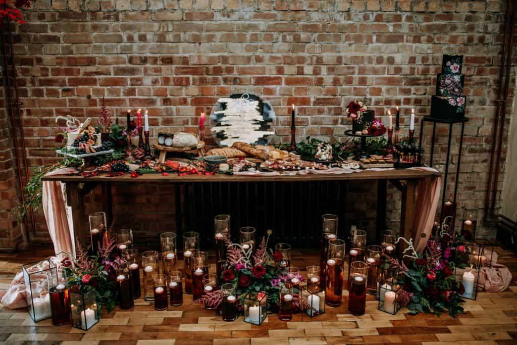 wedding venue styling by Belle Bijoux