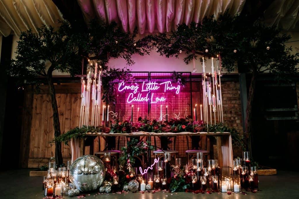 disco ball wedding ideas at the Beverley Barn