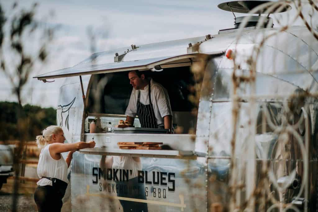 smoking blues wedding catering